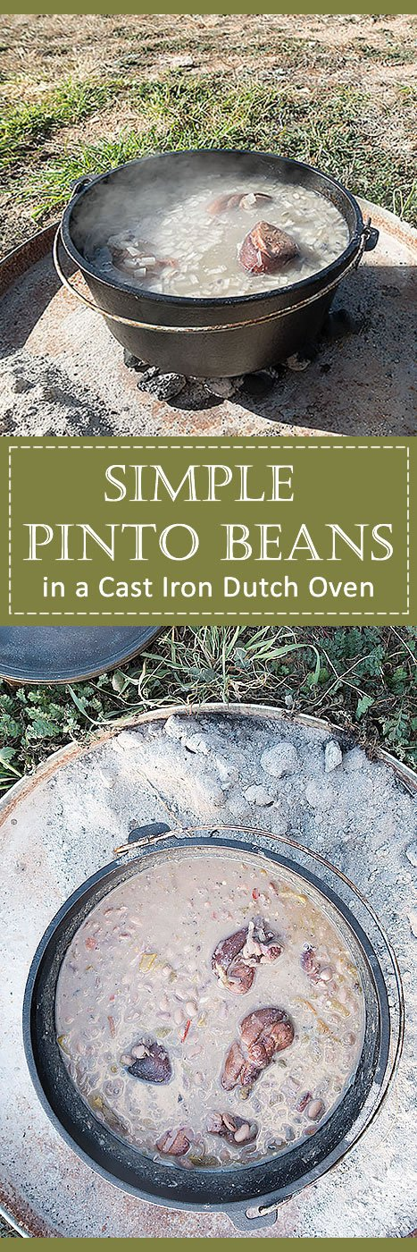 Camping Dutch Oven Pinto Beans