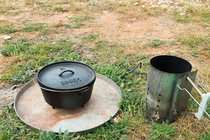 Metal Drum Cover - Dutch Oven Accessories