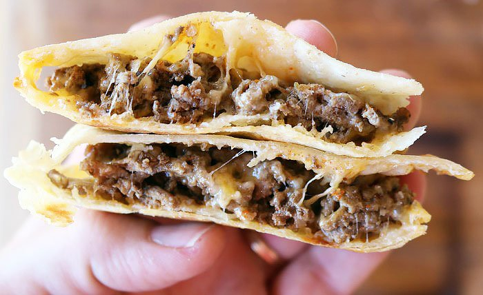 Pie Iron Tacos Ready to Eat