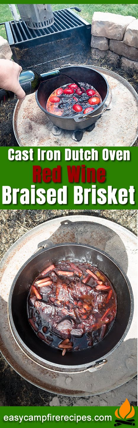 You might think that red wine braised brisket seems a little excessive for camping, but I assure you, it's easy to make if you've got the time.