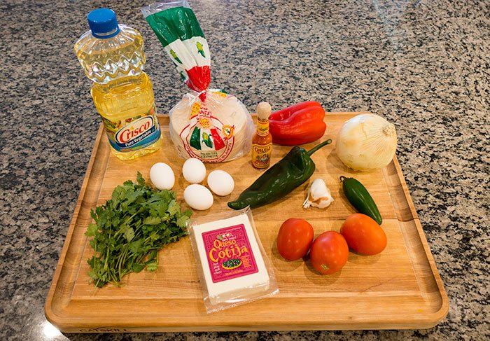Migas Recipe Ingredients