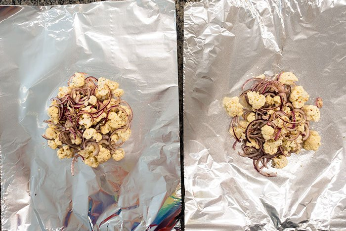 Roasted Cauliflower Foil Packs