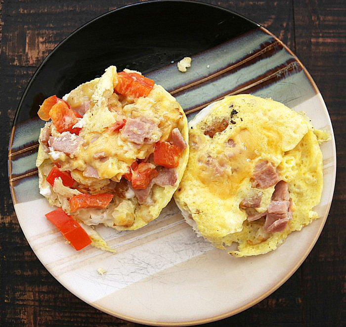 Pie Iron Omelettes
