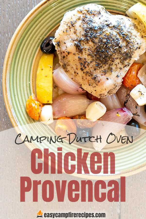 Chicken Provencal is one of the easiest recipes that you can cook in a cast-iron camping dutch oven, but your fellow campers will think you're a genius.