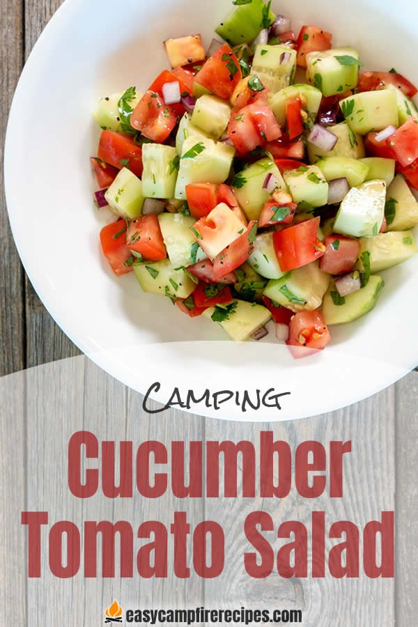 A cold cucumber tomato salad is a nice bright salad to offset a fatty cut of meat cooked over a fire. It is especially nice on a warm summer day.