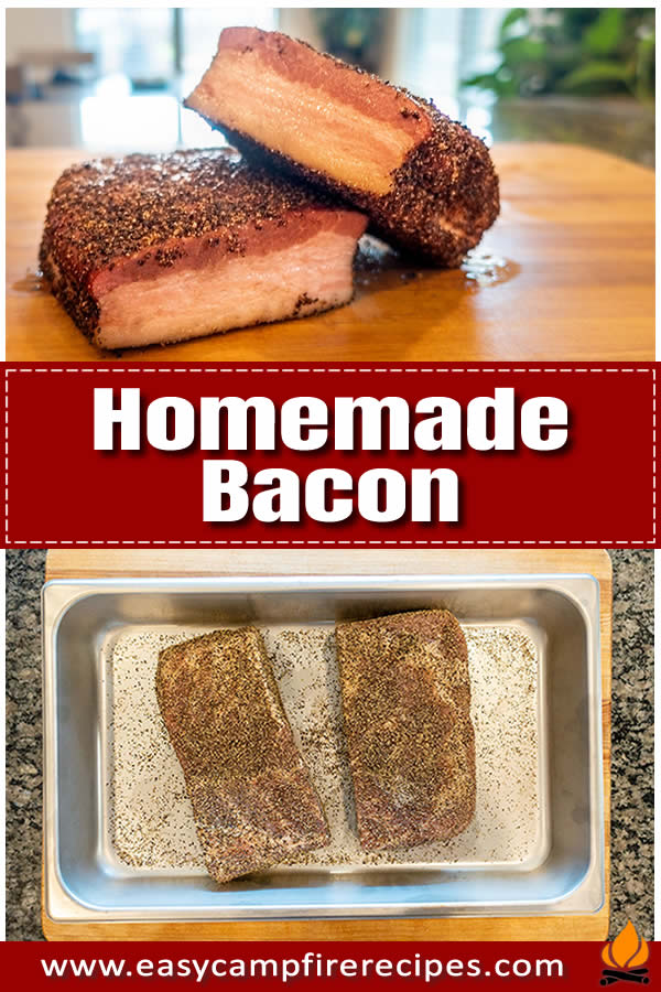 Highly versatile, no-frills homemade bacon recipe that will replace the store-bought stuff. No weird ingredients, just porky and smoky goodness.