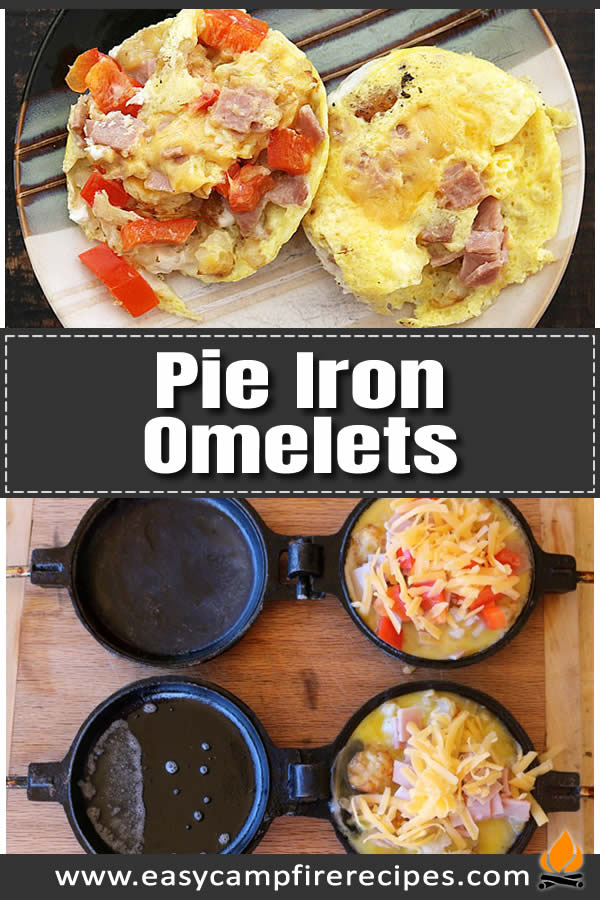 If you're an egg lover and want a quick and easy eggy pie - the pie iron omelet is for you. Easily customizable with whatever extras you want.