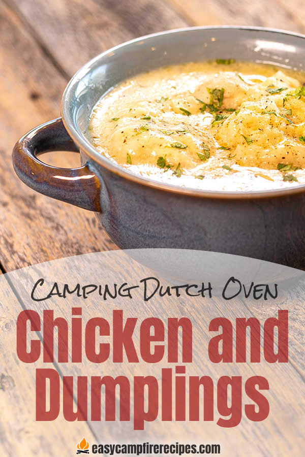 Easy Chicken and Dumplings in Cast Iron