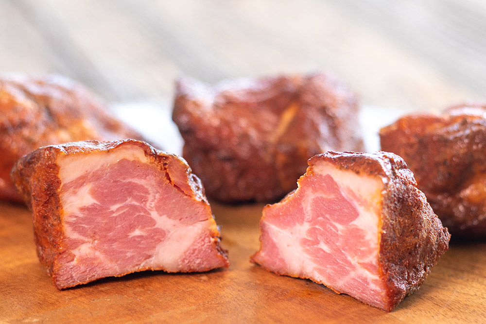 Cajun-style tasso ham, a small spicy country-style ham, great with eggs, beans, and stew. Easy to cure, cheap to make, versatile, and very tasty.